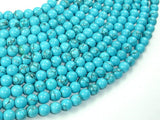 Howlite Turquoise Beads, 6mm Round Beads-BeadBasic