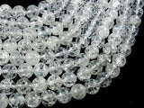 Crackle Clear Quartz Beads, 10mm (10.5mm) Round Beads, 15 Inch, Full strand