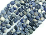 Matte Sodalite Beads, 8mm, Round Beads-BeadBasic