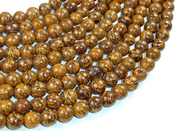Elephant Jasper Beads, 8mm Round Beads-BeadBasic