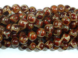 Tibetan Agate Beads, 8mm Round Beads-BeadBasic
