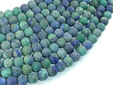 Matte Azurite Malachite Beads, 8mm Round Beads-BeadBasic
