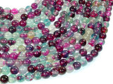 Dragon Vein Agate Beads, Green & Fuchsia, 6mm Round Beads-BeadBasic