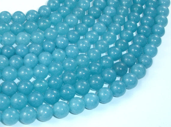 Blue Sponge Quartz Beads, 8mm Round Beads-BeadBasic