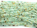 Matte Amazonite Beads, 4mm Round Beads,-BeadBasic