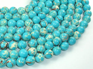 Blue Impression Jasper, 10mm(10.3mm) Round Beads, 15.5 Inch, Full strand