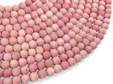 Matte Rhodonite Beads, Round, 6mm-BeadBasic