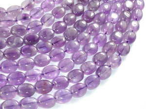 Amethyst, Light Purple, 8x10mm Oval Beads-BeadBasic