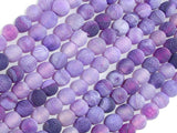 Frosted Matte Agate - Purple, 6mm Round Beads-BeadBasic