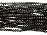 Black Sandalwood Beads, 6mm(6.3mm) Round, 25 Inch, Full strand