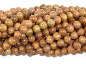 Green Sandalwood Beads, 6mm Round Beads-BeadBasic