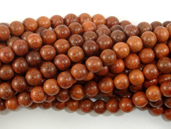 Rosewood Beads, 6mm Round Beads-BeadBasic