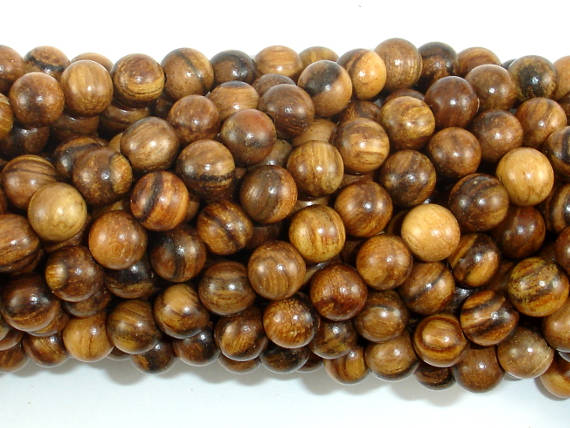 Vietnam Qinan Sandalwood Beads, 6mm(6.3mm) Round Beads, 25 Inch-BeadBasic