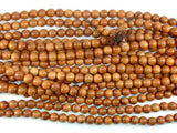 Taxus Chinensis Wood Beads, 8mm(8.3mm) Round Beads, 34 Inch, Full strand