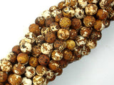 Matte Antique Agate Beads, 8mm Round Beads-BeadBasic