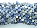 Matte Sodalite Beads, 6mm Round Beads-BeadBasic