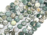 Matte Tree Agate Beads, 10mm Round Beads-BeadBasic