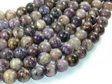 Genuine Charoite, 10mm Round Beads-BeadBasic