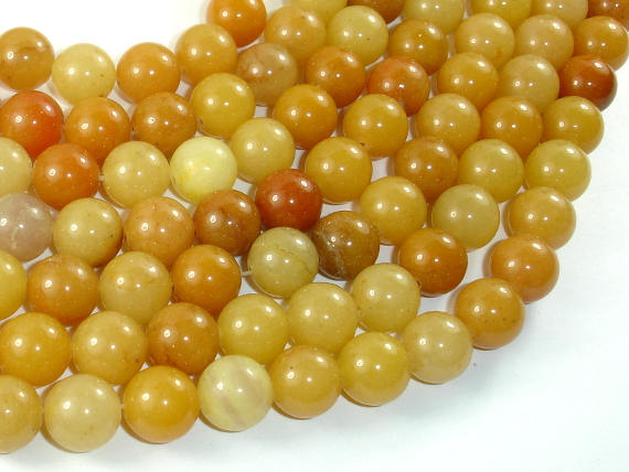 Yellow Aventurine Beads, 10mm(10.5mm) Round Beads-BeadBasic