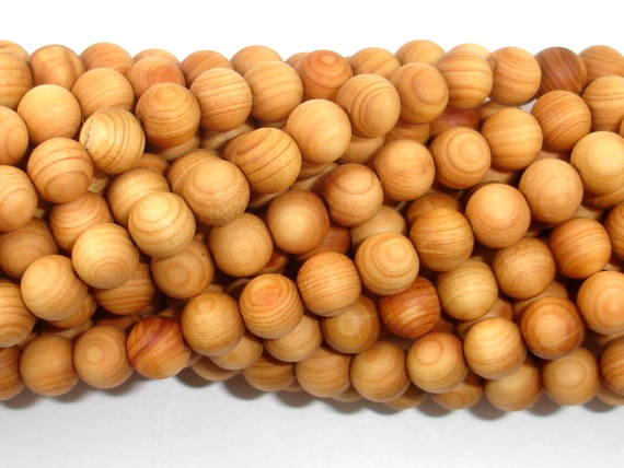 Cedar Wood  Beads, Thuja Sutchuenensis, 6mm(6.5mm) Round, 26 Inch