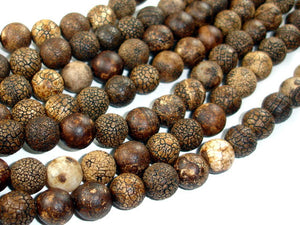 Crackle Tibetan Agate, 10mm(9.8mm) Round Beads, 14.5 Inch, Full strand