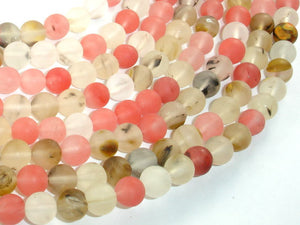 Matte Fire Cherry Quartz Beads, 8mm Round Beads-BeadBasic
