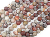 Matte Mexican Crazy Lace Agate Beads, 8mm Round Beads-BeadBasic