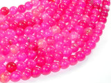 Dragon Vein Agate Beads-Pink, 8mm Round Beads, 15 Inch, Full strand