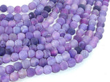 Frosted Matte Agate - Purple, 6mm Round Beads, 15 Inch, Full strand