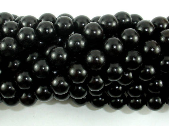Black Sandalwood Beads, 8mm (8.5mm) Round Beads-BeadBasic