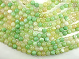 Banded Agate Beads, Light Green, 10mm(10.4mm) Round Beads, 15 Inch
