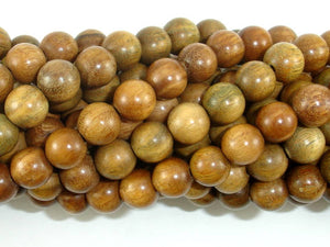 Green Sandalwood Beads, 8mm(8.3mm) Round Beads, 35 Inch, Full strand