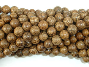 Wenge Wood Beads, 8mm Round Beads, 34 Inch-BeadBasic