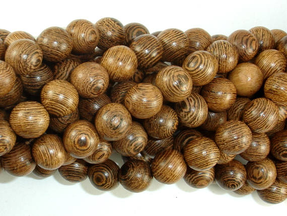 Wenge Wood Beads, 10mm Round Beads, 42 Inch, Full strand
