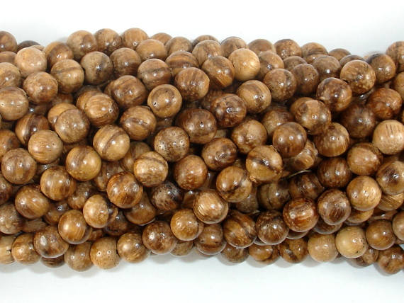 Aqarwood Beads, 6mm(6.3mm) Round Beads, 26 Inch-BeadBasic