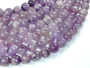 Light Amethyst, 12mm Round Beads-BeadBasic