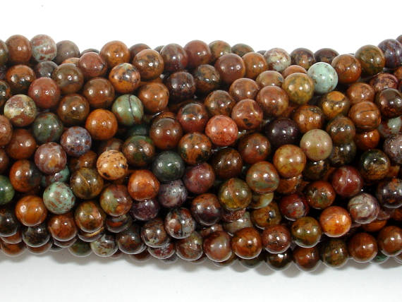 African Green Opal, 4mm(4.5mm) Round Beads, 15.5 Inch, Full strand