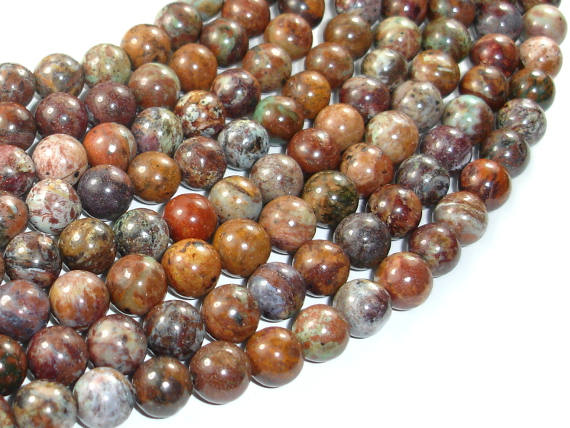 African Green Opal, 8mm(8.5mm) Round Beads, 16 Inch, Full strand