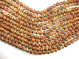 Crackle Tibetan Agate, 10mm Round Beads, 14.5 Inch, Full strand