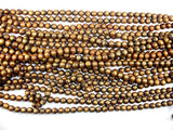 Gold Coral Beads, 8mm Round Beads, Mala Beads-BeadBasic