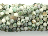 Matte Tree Agate Beads, Round, 6mm (6.5mm), 15.5 Inch