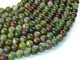 Green Rainforest Jasper Beads, Cuprite, 8mm Round Beads-BeadBasic