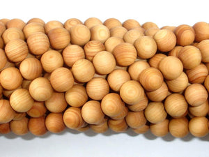 Cedar Wood Beads, Thuja Sutchuenensis, 8mm, Round-BeadBasic