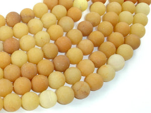Matte Yellow Aventurine Beads, 10mm, Round Beads-BeadBasic