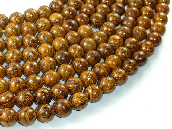 Elephant Jasper Beads, 10mm Round Beads-BeadBasic