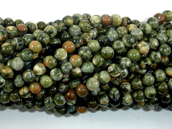 Rhyolite Beads, 4mm(4.6mm) Round Beads, 15.5 Inch, Full strand