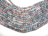 Matte Dragon Vein Agate, 8mm Round Beads-BeadBasic