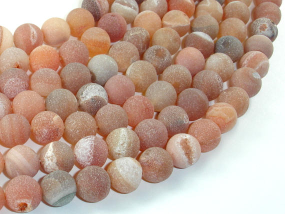 Druzy Agate Beads, Geode Beads, 10mm, Round Beads-BeadBasic