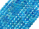 Blue Agate Beads, 6mm Faceted Round Beads, 15 Inch, Full strand