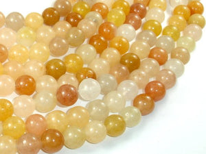 Yellow Jade Beads, 10mm(10.3mm) Round Beads-BeadBasic